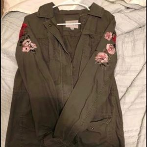 Military Jacket with sleeve detail.